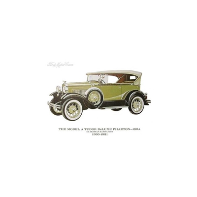Ford A  Farveprint  1930 -1931