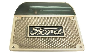 "Ford T Trinbræt Messing 9"" bred  x 7"" dyb"