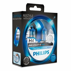 H4 PHILIPS COLORVISION BLUE 60/55W SÆT