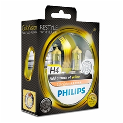 H4 PHILIPS COLORVISION YELLOW 60/55W SÆT